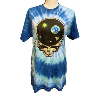 Grateful Dead Skull Outer Space Graphic Band Tee